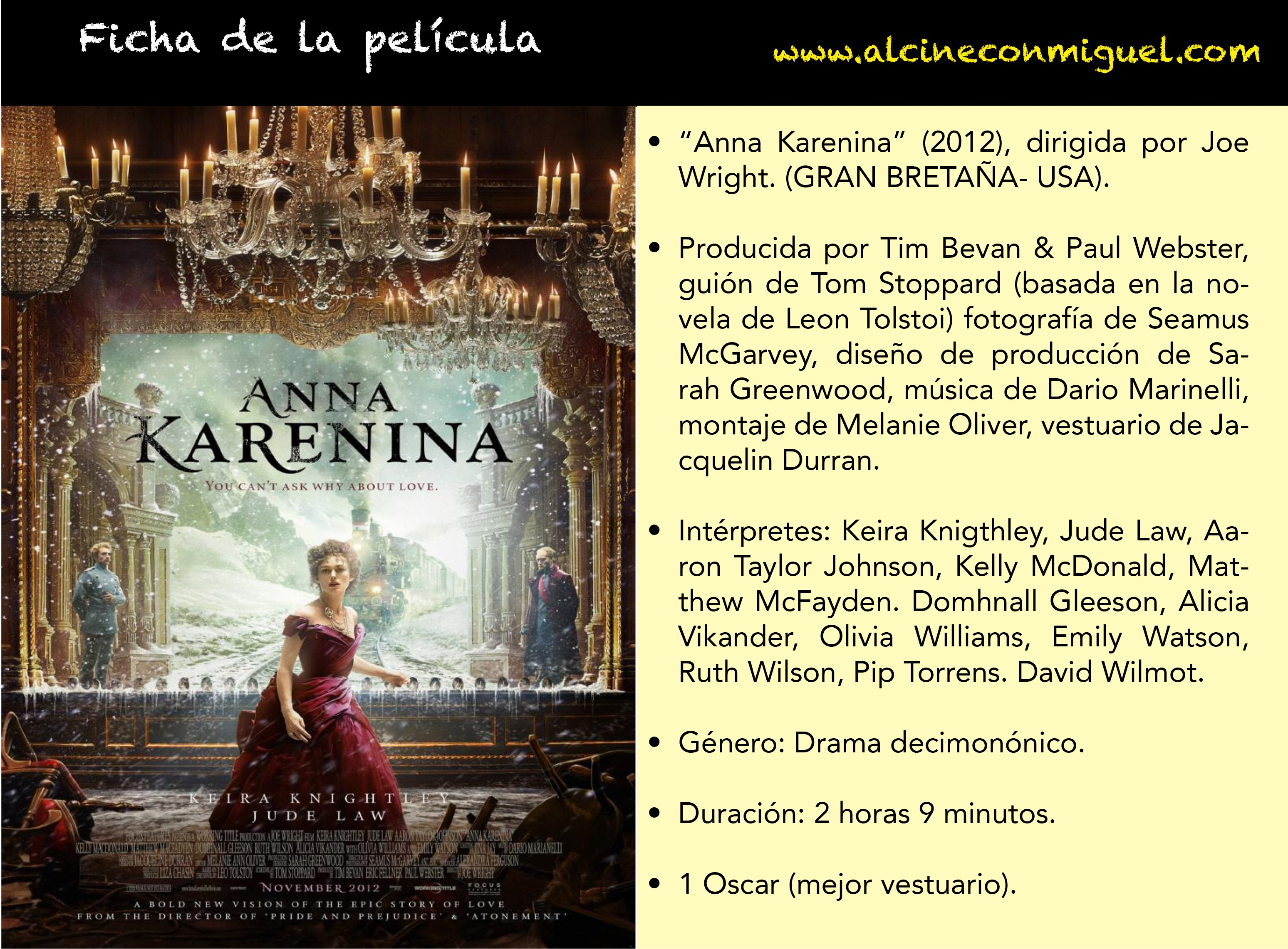 últimos Estrenos Ana Karenina De Joe Wright Al Cine